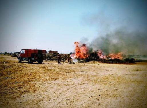 Incendio de pastizales en el Loteo 2