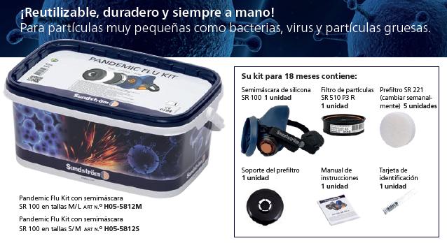 Kit de protección respiratoria para hospitales y servicios de urgencias