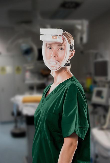 Equipo de Protección Respiratoria diseñado para su uso en Laboratorio, Hospitales, Servicios de Urgencias etc.