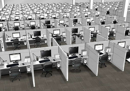 office cubicles and desks