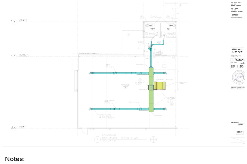 IMAGE OF PLANS AND DUCTWORK BidWorkz Sample Deliverables Package