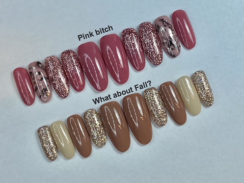 """""""What about Fall?"""" Press on Nails"""