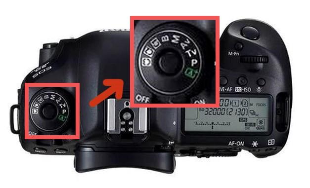 Paramétrage appareil photographique du photographe