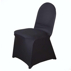 Black Spandex Banquet Chair Covers