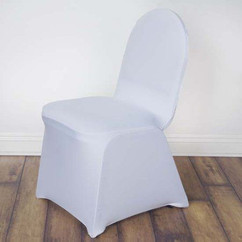 White Spandex Banquet Chair Covers