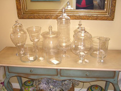 Glass Candy Buffet Jars