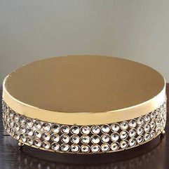 Gold Beaded Cake Riser