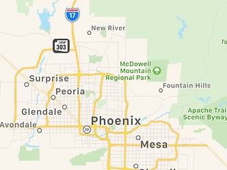 Map of Phoenix Arizona