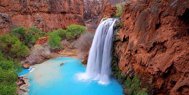 Havasu Falls Offer Breathtaking Views to Visitors