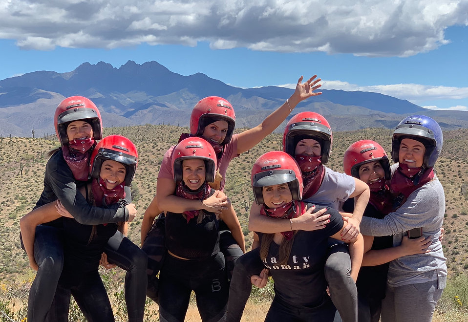 Bachlorette Party on ATV Tour in Scottsdale Arizona