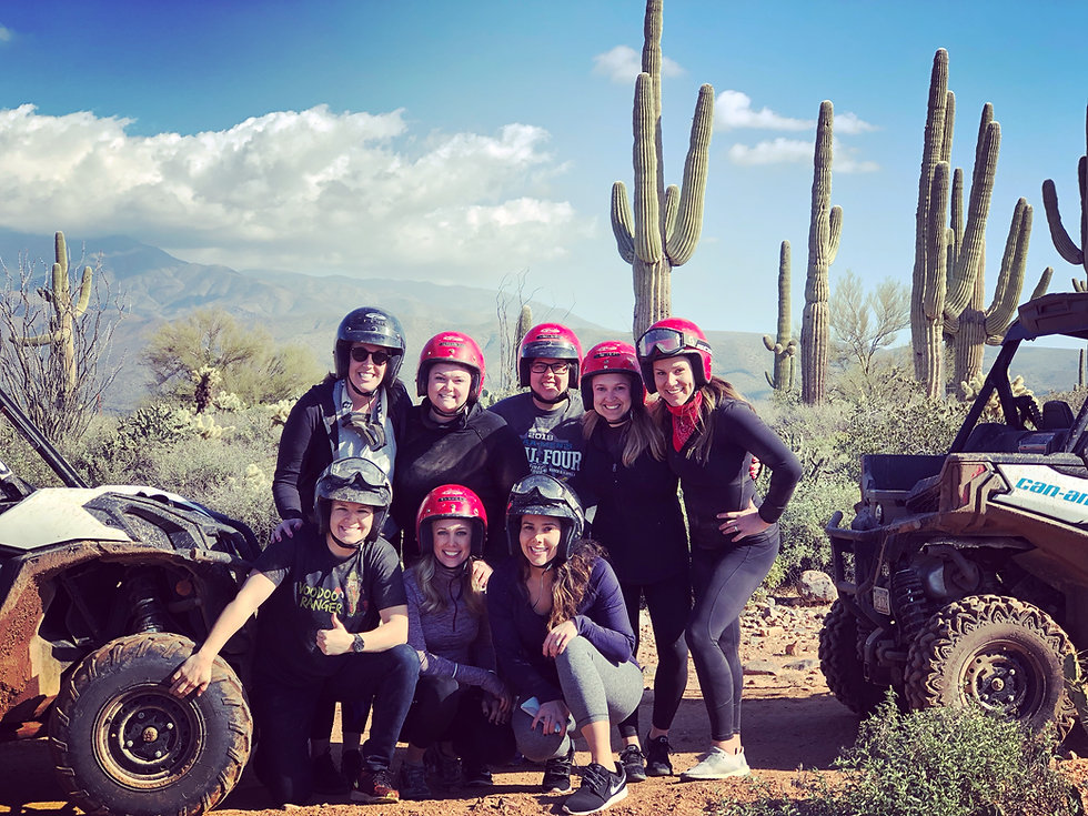 Girls outing on ATV tour in Scottsdale