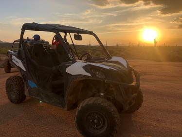 UTV and a  Arizona Sunset