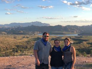 Saguaro lake and the mountains