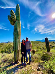 Giant Saguaro on ATV tour