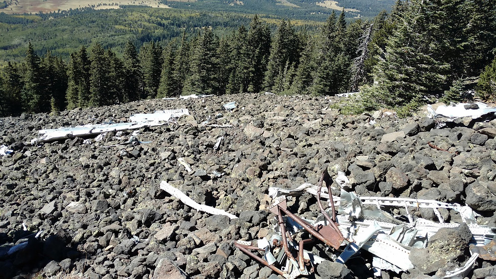 Crash Site of B-24 airplane on Humphrey's peak