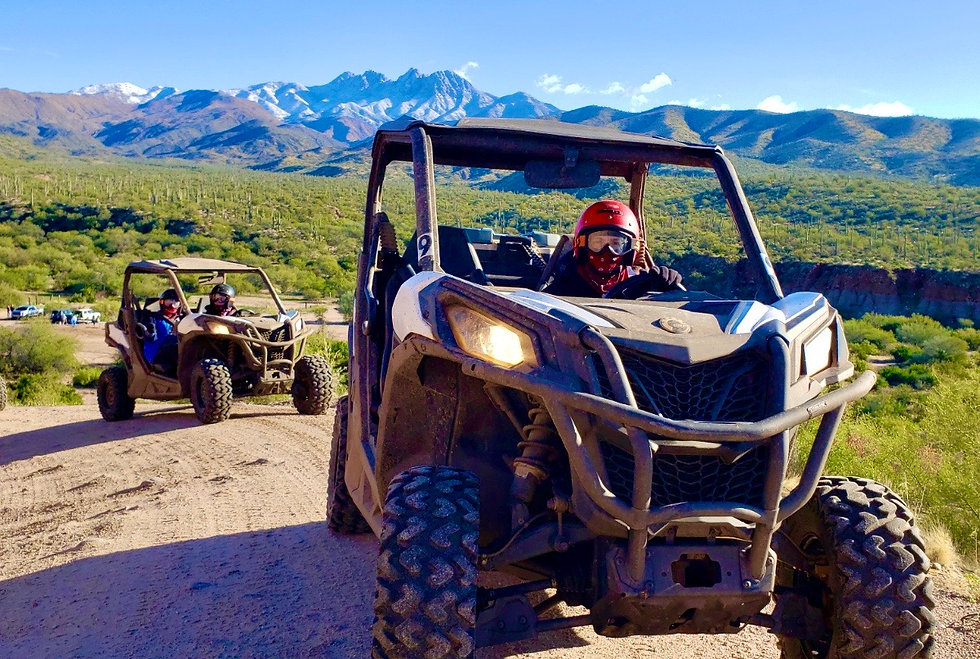 UTV Riding near the Four Peaks in Arizona