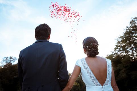 Mariés laché de ballons