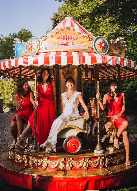 mariée sur carrousel