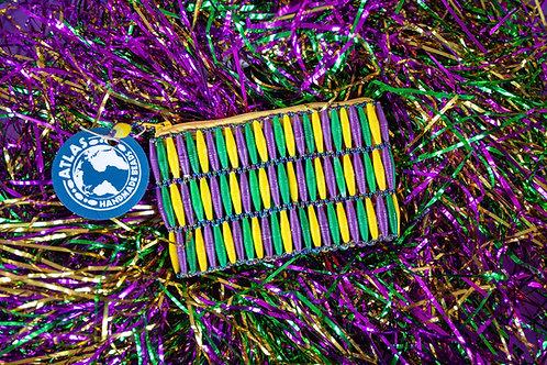 Mardi Gras coin purse