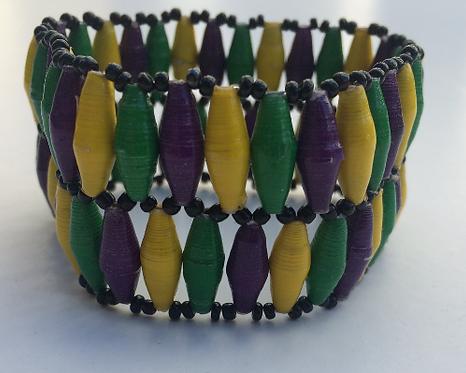 Special 2-Row Mardi Gras Bracelet