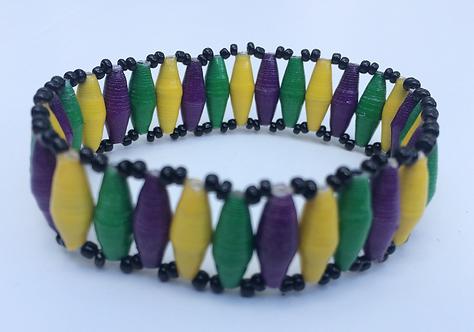 Special 1-Row Mardi Gras Bracelet
