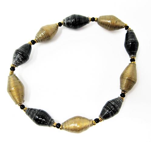 Black & Gold Bracelet in solid colors