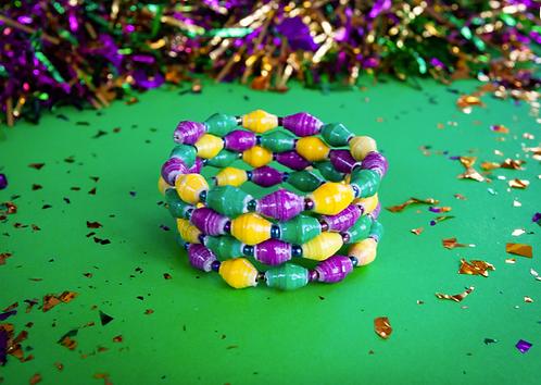 Mardi Gras Stack Bracelet