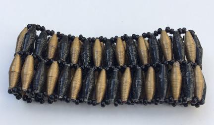 Special 2-Row Black & Gold Bracelet