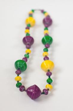 """Mardi Gras """"Big Bead"""" Necklaces"""