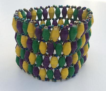 Special 4-Row Mardi Gras Bracelet