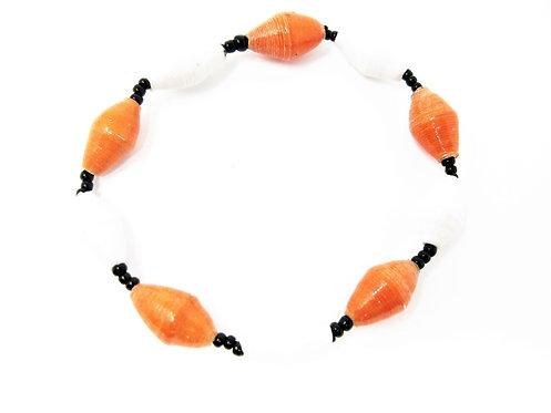 Orange & White Bracelet