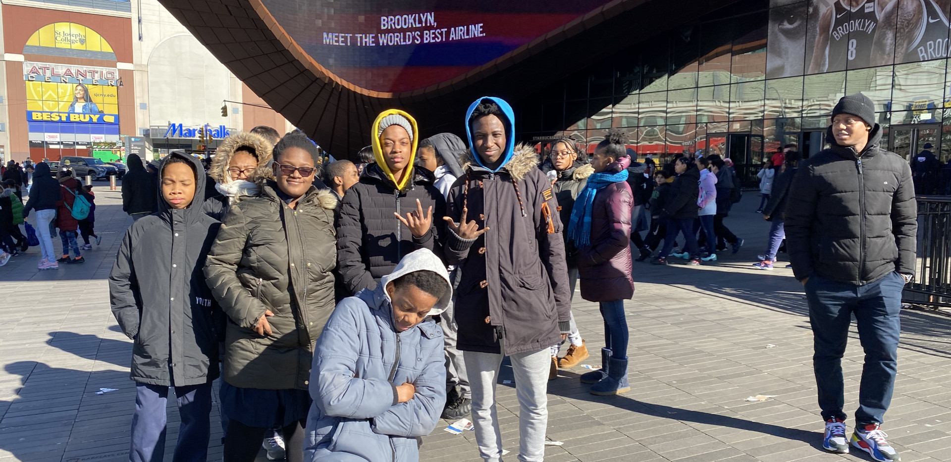 We traveled to Barclays Center