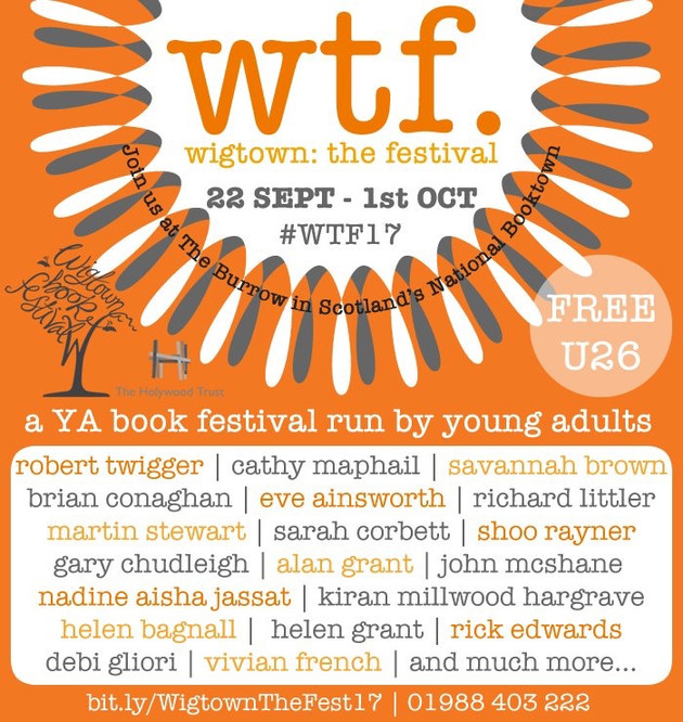 I'm a guest speaker at Wigtown Book Festival
