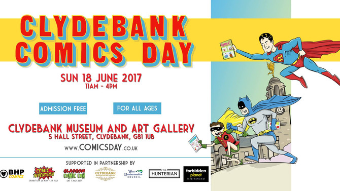 I'm a guest at Clydebank Comics Day