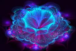 Iridescent Blue Flower