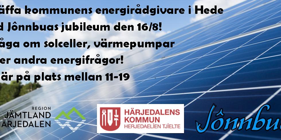 Fråga om solceller & andra energifrågor i Hede 16/8