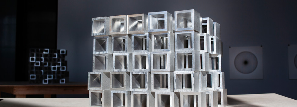 5 x 5 x 5 Aluminum Stack