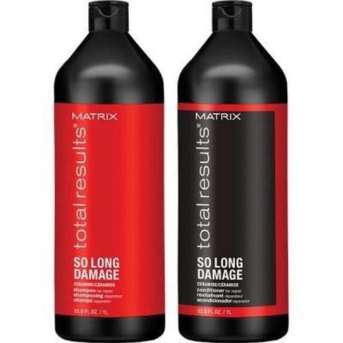 Shampooing Revitalisant So Long Domage 1 Litre