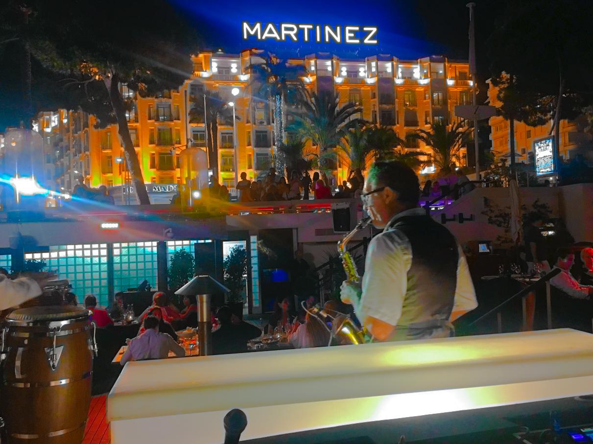 sax/DJ martinez cannes 06