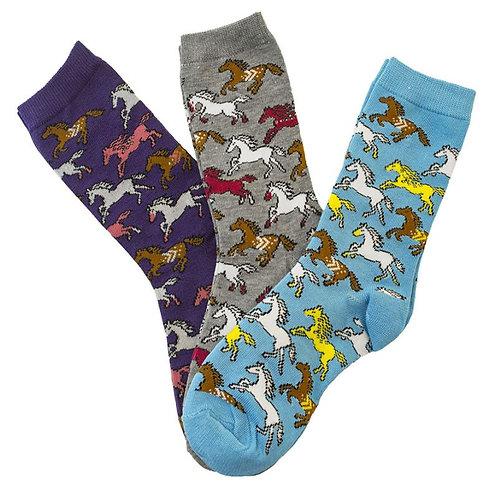 Ladies Horse Socks - Set of 3