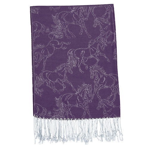 Pashmina Scarf With Horses