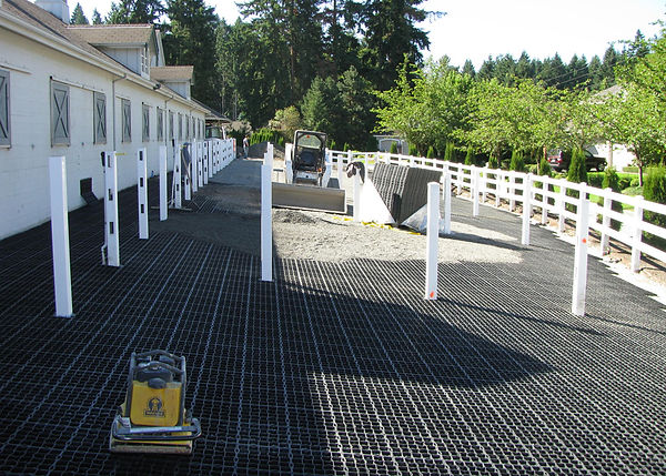 ECORASTER® paddock installation