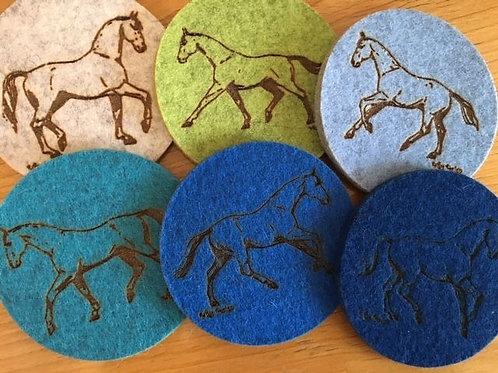 DQ's Design 100% Wool Felt Coasters - Different Designs