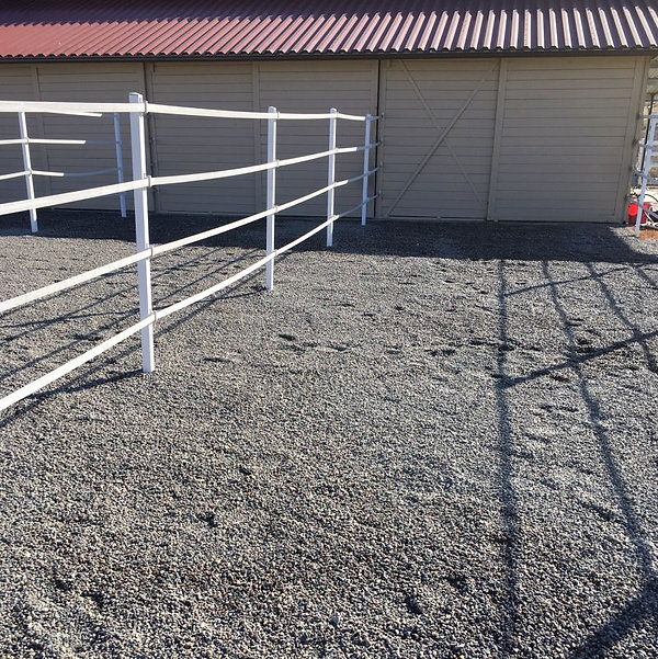 Ecoraster installation progress