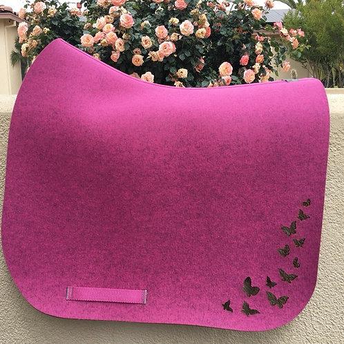 DQ's Design Custom Made Wool Felt Dressage Pad Butterfly