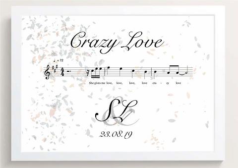 Music Print Leaves