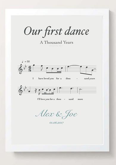 Music Print Elegant