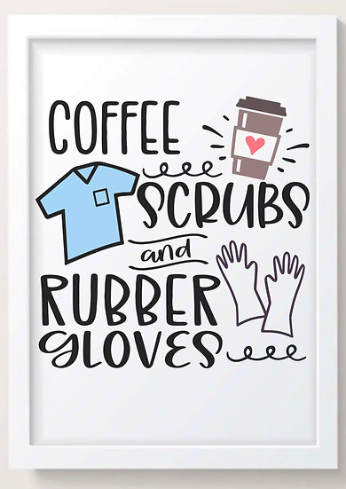 Coffee Scrubs & Rubber Gloves! (Colour)
