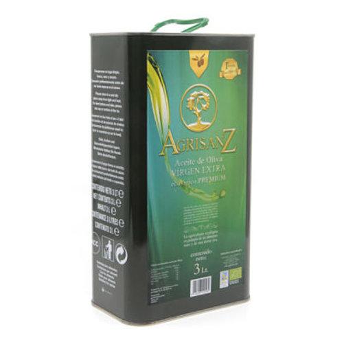Aceite de olíva vírgen extra de cultivo ecológico Agrisanz Premium. 9L (3x3 L)