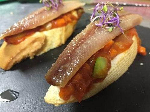Lomos de sardina ahumada gallega. Envase 400 g